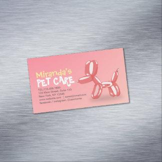 Carte De Visite Magnétique Se reposer de toilettage de soin des animaux