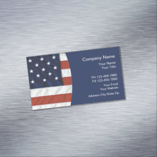 Carte De Visite Magnétique Thème américain patriotique