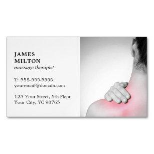 Carte De Visite Magntique Thrapeute Lgant Moderne Massage Photo