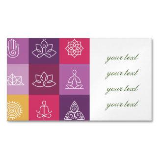Carte De Visite Magnétique zen, chakra, yoga, paix, ohm, tranquilty, lotus,