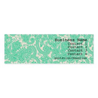Carte de visite maigre moderne de motif de Paisley