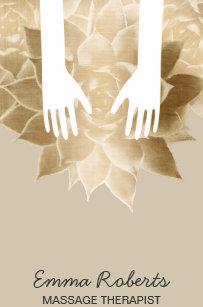 Carte De Visite Mains Curatives Spa Thrapie Massage Et