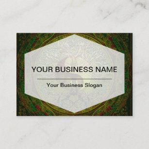 Carte De Visite Mandala Vert Yin Yang Avec Larbre La Vie