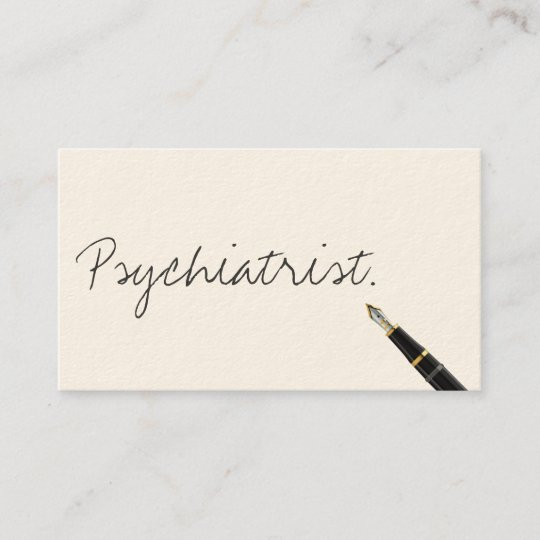 Carte De Visite Manuscrit Psychiatre
