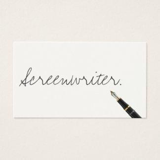 Carte de visite manuscrit de scénariste