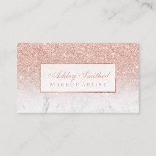 Carte De Visite Maquillage Rose Dombre Marbre Parties