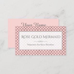 Carte De Visite Maquilleur Rose LipSense Sirene Dor