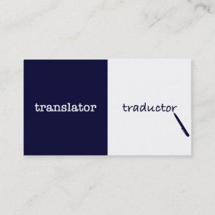Carte De Visite Masculin Anglais Espagnol Traducteur