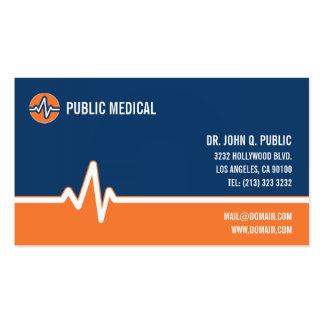 Carte de visite médical de soins de santé