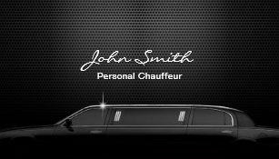 Carte De Visite Mtal Noir Luxe Conducteur Chauffeur