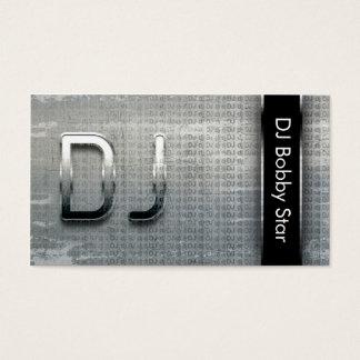 Carte de visite métallique frais du DJ