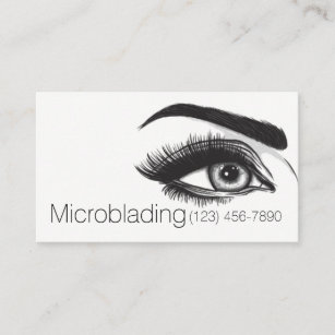 Carte De Visite Microblading Sourcils Tatouage Maquillage