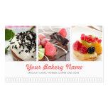 Carte de visite mignon de boulangerie avec 4 photo