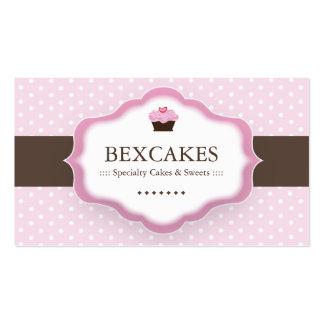 Carte de visite mignon de petit gâteau
