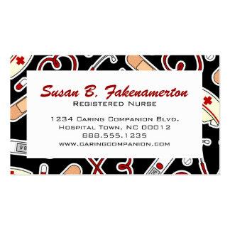 Carte de visite mignon d'infirmière ou de travaill