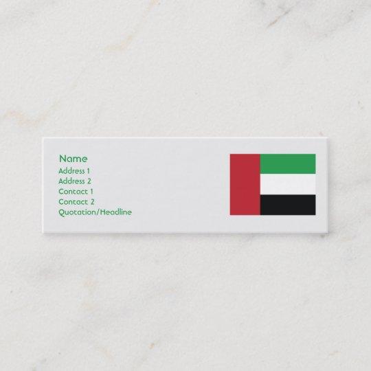 Carte De Visite Mini Arabe Uni Emirites