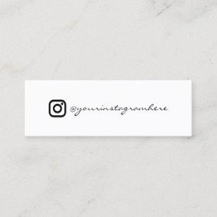 Carte De Visite Mini Blanc Noir Social Levenement RSVP Logo