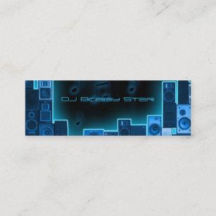 Carte De Visite Mini Businesscard Bleu Du DJ Nuit