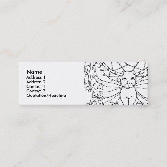 Carte De Visite Mini Chat Feerique Avec Des Ailes Papillon