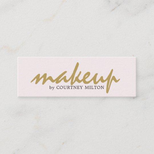 Carte De Visite Mini Maquilleur Lgant Simple Professionnel