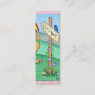 Carte De Visite Mini Marque Page Destin Placez 20