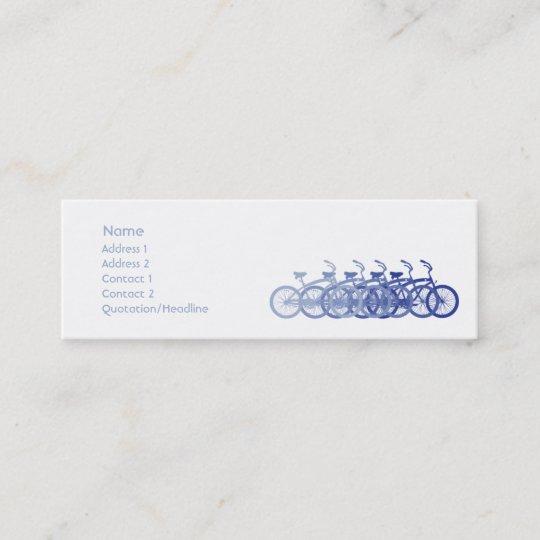 Carte De Visite Mini Velo Bleu
