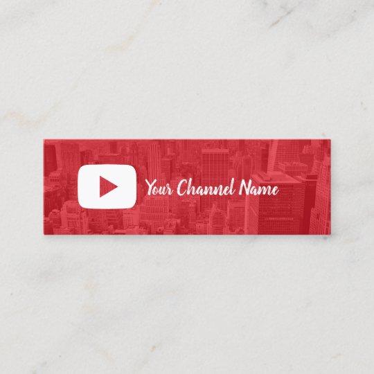Carte De Visite Mini Youtube Channel Custom Photo Youtuber
