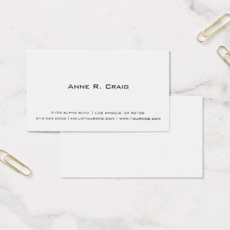 Carte de visite minimaliste contemporain