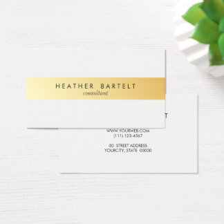 Carte de visite minimaliste élégant de rayure d'or