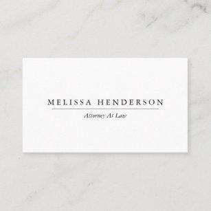 Carte De Visite Minimaliste Elegant Professionnel Chic