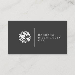 Carte De Visite Moderne Comptable Logo