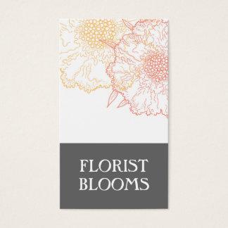 Carte de visite moderne de fleuriste de Groupon