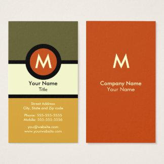 Carte de visite moderne de monogramme