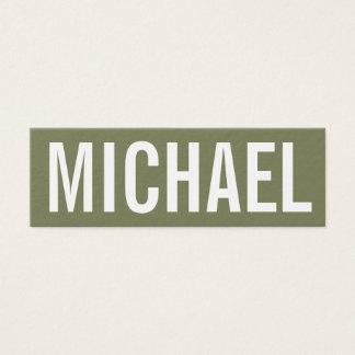Carte de visite moderne professionnel minimaliste