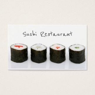 Carte de visite moderne simple de sushi