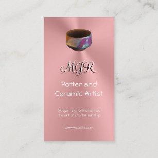 Carte De Visite Monogramme Potier Artiste En Ceramique