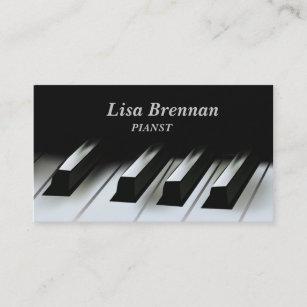 Carte De Visite Musicien Pianiste Cole Professeur