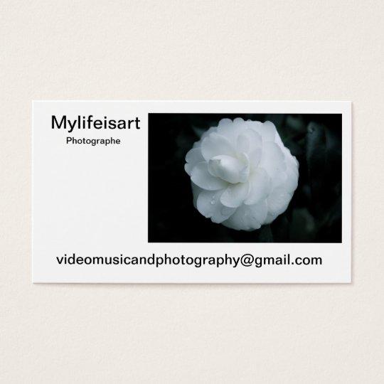 Carte de visite Mylifeisart photographe