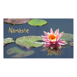 "Carte de visite, ""Namaste"", photo de fleur de Lotu"
