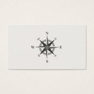 Carte de visite nautique de boussole