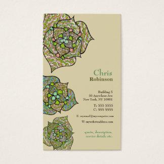 Carte de visite neutre floral d'environnement vert