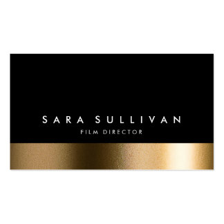 Carte de visite noir audacieux d or de réalisateur