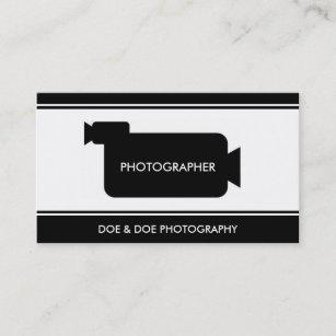 Carte De Visite Noir Blanc Photographie Cinaste