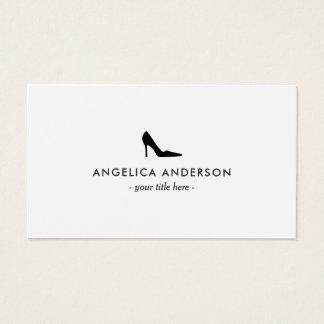 Carte de visite noir de chaussure de talon haut