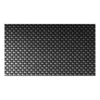 carte de visite noir de coutume de fibre de carbon