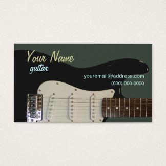 Carte de visite noir de guitare électrique