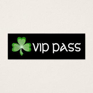"""Carte de visite noir de """"PASSAGE de VIP"""" de"""