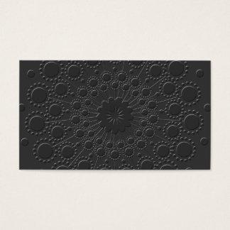 Carte de visite noir de relief par Faux frais