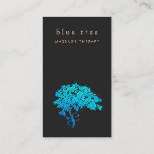 Carte De Visite Noir Lgant 2 Logo Darbre Zen Turquoise
