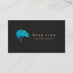 Carte De Visite Noir Lgant 3 Logo Darbre Zen Turquoise